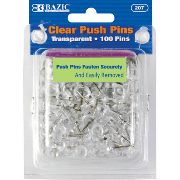 Push Pins (100-Pack) - Transparent