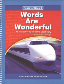 Words Are Wonderful Test Book 4 Blackline Masters