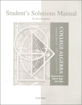 Algebra II with Trig Solutions Manual (Used)