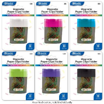 Magnetic Paper Clips Holder With Assorted Color #1 Paper Clips