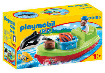 Fisherman with Boat (Playmobil 1-2-3)
