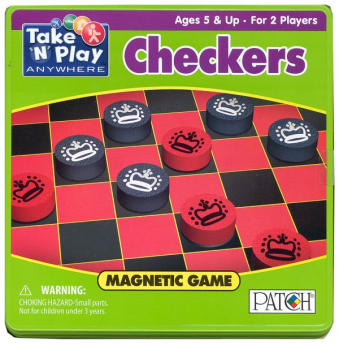 Magnetic Checkers Game Tin