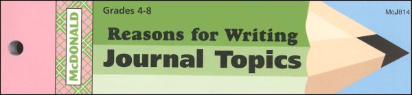 Reasons for Writing Journal Booklet