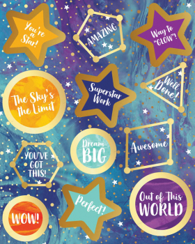 Galaxy Motivational Stickers