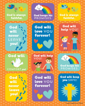 God's Promises Shape Stickers (72 stickers)