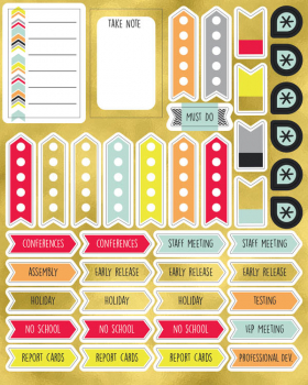 Sparkle + Shine Planner Accent Shape Stickers
