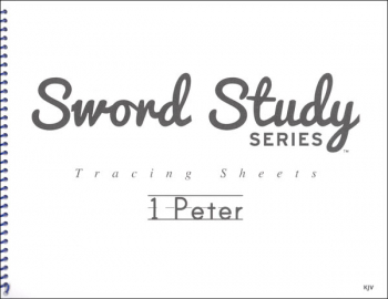 1 Peter Sword Study Tracing Sheet - King James Version