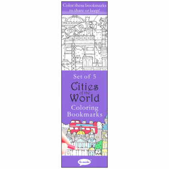 Coloring Bookmarks Cities of the World (set of 5)
