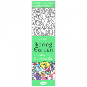 Coloring Bookmarks Spring Garden (set of 5)