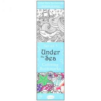 Coloring Bookmarks Under the Sea (set of 5)