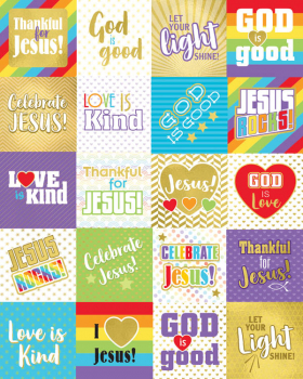 Words of Praise Stickers (120 stickers)
