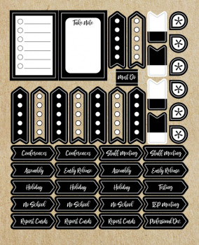 Simply Stylish Planner Accent Stickers