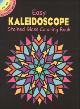 Easy Kaleidoscope Little Stained Glass Coloring Book
