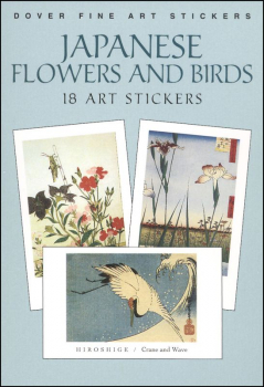 Japanese Flowers & Birds: 18 Art Stickers