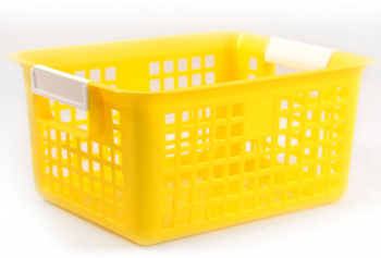 Book Basket - Yellow