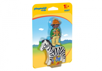 Ranger with Zebra (Playmobil 1-2-3)