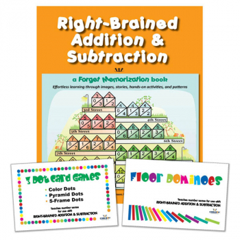 Right-Brained Additional and Subtraction: Book & 2 Games