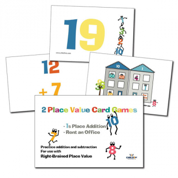 Right-Brained Place Value Adding 1s Cards