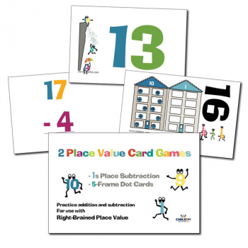 Right-Brained Place Value Subtracting 1s Cards