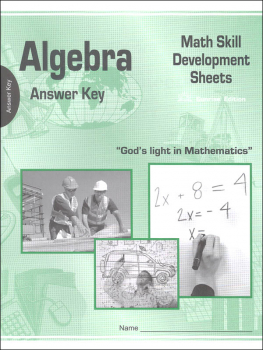 Algebra Math Skill Development Worksheets - Answer Key