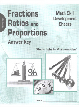 Fractions, Ratios, and Proportions Math Skill Development Worksheets - Answer Key