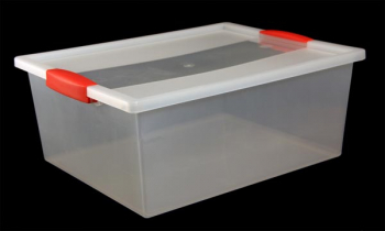 Snap Handle Tote 12 Quart - Clear