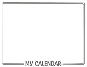 "Make Your Own Calendar Book (11"" x 8 1/2"")"