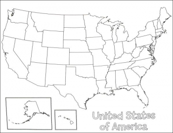 U.S.A. Map Poster