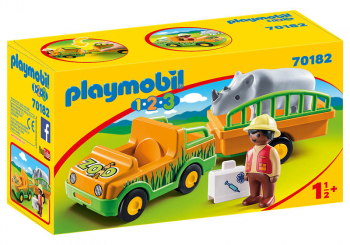 Zoo Vehicle with Rhinoceros (Playmobil 1-2-3)