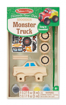 Decorate-Your-Own Wooden Monster Truck
