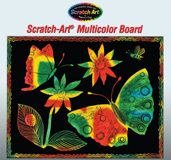 Scratch Art Multicolor Board (30pk)