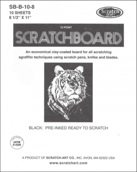 Scratchboard 10 pt., Black, 10 sheets