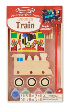 Decorate-Your-Own Wooden Train - Small (Melissa & Doug item #8846)