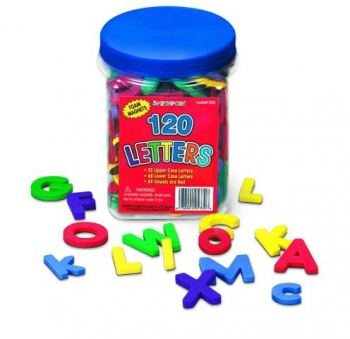 Magnetic Foam Letters - 120 pc Bucket