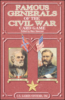 Famous Generals of Civil War Playing Cards