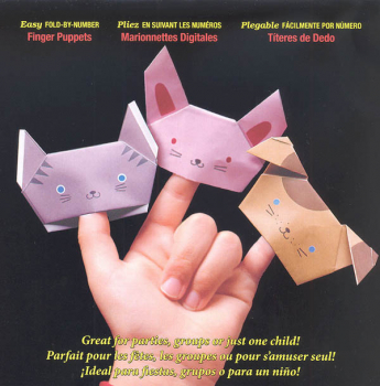 Origami Paper Fold-By-Number - Finger Puppets