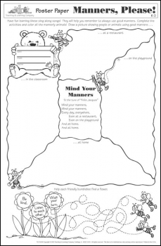 Manners, Please! Poster Paper