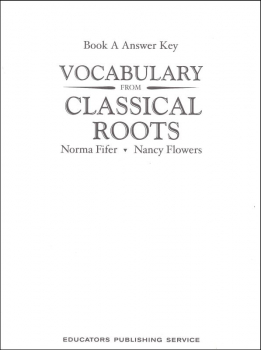 Vocabulary From Classical Roots A Answer Key Only