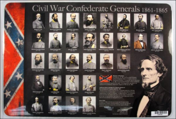 Civil War Generals Placemat
