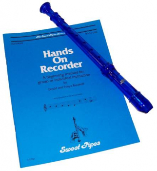 Hands On Recorder Book with Blue Canto Recorder
