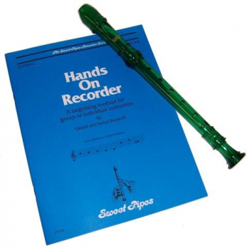 Hands On Recorder Book with Green Canto Recorder