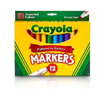 Crayola Broad Line Markers Assorted 12 Count