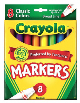 Crayola Broad Line Markers Classic 8 Count