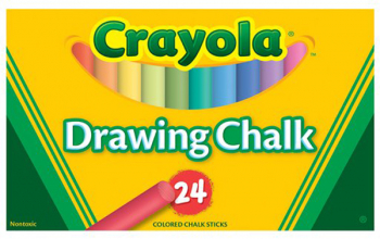 Crayola Chalk Sticks 24 Count