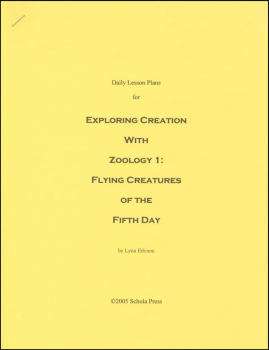 Daily Lesson Plans for Exploring Creation with Zoology1