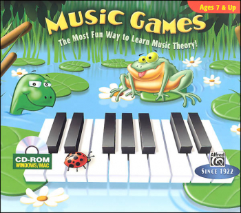 Alfred's Basic Piano Library Music Theory Games Levels 1-2 CD-ROM (6 games)