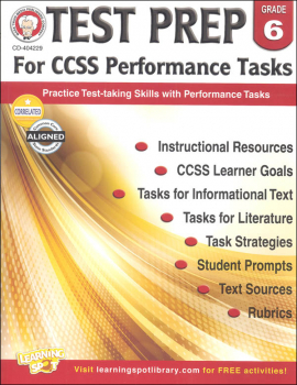 Test Prep for CCSS Performance Tasks: Grade 6