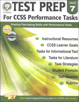 Test Prep for CCSS Performance Tasks: Grade 7
