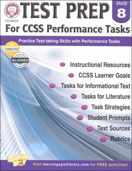 Test Prep for CCSS Performance Tasks: Grade 8