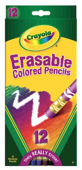 Crayola Erasable Colored Pencils 12 Count